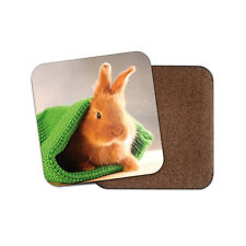 Cute Baby Bunny Coaster - Rabbit Pet Bunnies Animal Kids Mum Sister Gift #14578