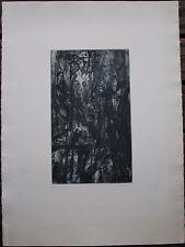 ZUCCHELLI Pierre - Gravure eau-forte signée numérotée la glace Galerie Maeght **