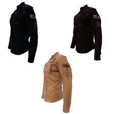 Cowboy Shirt Camisa Vaquera Western Wear Long Sleeve Brown Black and Beige