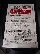 Vintage 1 sheet 27x41 Movie Poster Hennessy 1975 Roed Steiger Lee Remick