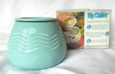 New listing New Insights Large 8 oz. Party Size 2 Piece Turquoise Dip Chiller Wavy Texture
