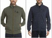 NEW!!! Gerry Men's Full Zip Long Sleeved Fleece Media Jacket, Black-XL, Green-L