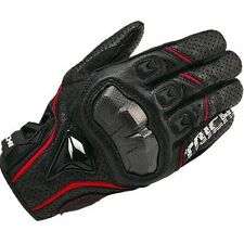 RS Taichi RST390 Mens Perforated leather Motorcycle Mesh Gloves Black Red White