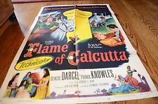 1953 Flame of Calcutta Movie Poster Denise Darcel Patric Knowles 44657 53-373