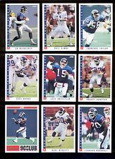 1993 Score New York Giants Set PHIL SIMMS LAWRENCE TAYLOR JEFF HOSTETLER BANKS