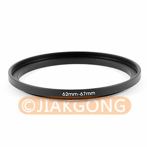 62mm-67mm 62-67 mm Step Up Filter Ring Stepping Adapter