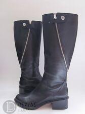 $625 NWD Elizabeth & James Heidi Fashion Knee Boots Black Leather Women's 10