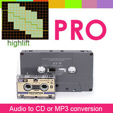 Audio Tape and Micro Cassette to CD or MP3 conversion - Archival Quality Results