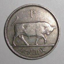 Ireland 1 shilling, Bull, animal wildlife coin