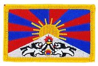 Toppe Toppa PATCH TIBET FREE DAILA LAMA Bandiera banderina ricamata termoadesivo