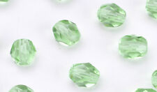 50 Peridot Faceted Round Czech Glass Beads 6MM