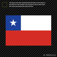 """4"""" Chilean Flag Sticker Decal Self Adhesive Vinyl Chile CHL CL"""