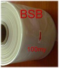0,152€//m  2x Rollen  200mm breit x 250m  100 my  LDPE Schlauchfolie  transparent