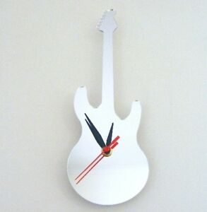 Electric Guitar Clock (Dean Style) - Acrylic Mirror (Several Sizes Available)