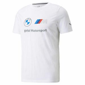 2021 BMW Motorsport Puma Essential Mens Tee T-Shirt White Official Merchandise