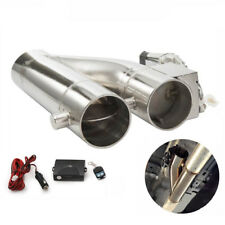 "Electric Exhaust Downpipe 2.5"" /3"" Cutout E-Cut Out Dual-Valve Controller Remote"