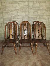 Set of 6 Oak Bowback Windsor Side Chairs match Ethan Allen Royal Charter