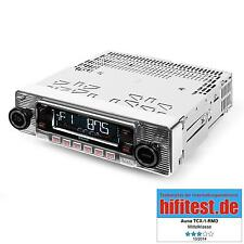 Autoradio Car Radio Tuner Bluetooth silber USB MP3 Retro Oldtimer CD Tuner