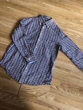 Fynch Hatton Soft Linen Check Shirt Size M 39/40