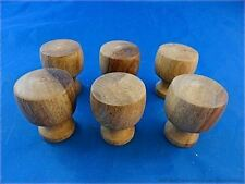SET OF 6 CLASSIC VICTORIAN STYLE CHEST OF DRAWERS KNOBS HARDWOOD DRAWER KNOB SK5