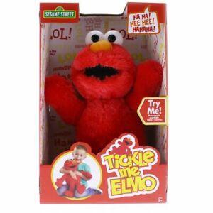 SESAME STREET Tickle Me Elmo Elektronische Sprechen 35.6cm Plüsch Brandneu