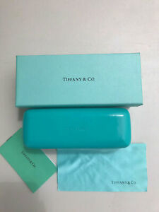 Tiffany & Co. Eyeglass Sunglass Hard Case With Cleaning Cloth, Pouch Authentic