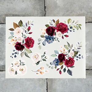 6 x Rose Flower Vinyl Stickers Decals Wall MacBook Laptop iPad - SKU6766