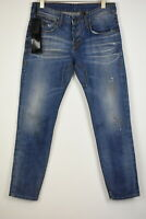 TAKESHY KUROSAWA TK 23 Men's W34/~L32 Faded Stained Little Rips Jeans 11096*mm