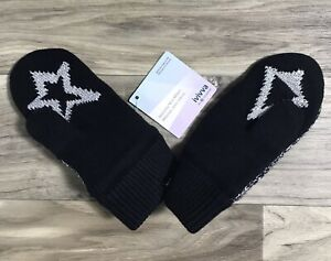 NWT Ivivva by Lululemon Naturally Nice Mitten, XS/S. BLK/WHT