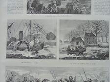 1876 Stich 2 / Hafen von Anvers / Ruppel pres de Boom Belgien