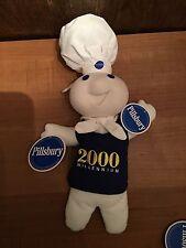 New Never Used 2000 Millennium Pillsbury Dough Boy Doll Pellet Body Plastic Head