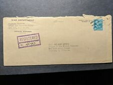 APO 719 LEYTE, PHILIPPINES 1945 Registered WWII Army Cover 571st Air Service Gp