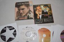 13 Karaoke Cd's Elvis Presley Kenny Rogers VCD's + CD+G's Sinatra Tom Jones