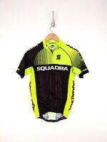 Squadra Cycling Jersey Men Medium Premier Green Black Full Zip Biking