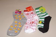 LOT OF 3 WOMEN'S SZ 9-11 VALENTINE, ST. PATRICK'S, & HALLOWEEN SOCKS NWT