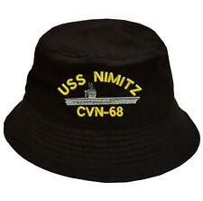 100% algodón militares USS Nimitz CVN-68 Gorra Sombrero Cubo Barco 3c1fdae8a05