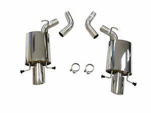 OBX S/S Axle Back Exhaust System For 2009 To 2014 Cadillac CTS-V 6.2L  AT & MT