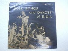 FOLK SONGS AND DANCES OF INDIA  kathak/bharat natyam/shiva LP CLASSICAL VG+
