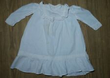 Vintage! Ruffled Classic Design Dress for Baby Composition & larger Bisque Doll