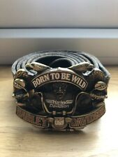 Genuine Harley Davidson Belt And Buckle