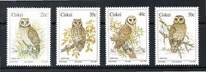 CISKEI 1991 OWLS SG,177-180 U/M NH LOT 3557C