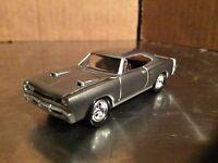 1969 dodge super bee silver Johnny  Lightning 1/64 mopar or no car loose display