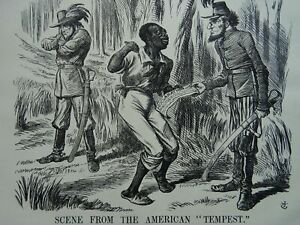 1863 Antique Victorian Print SCENE FROM THE AMERICAN TEMPEST - PROCLAMATION