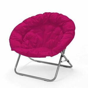 Urban Shop WK656343 Oversized Saucer Chair - Pink