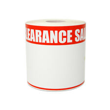"Clearance Sale Sticker Retail Shop Garage Write-On Blank Label (5.5""x3.5"", 4PK)"