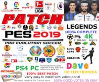 OPTION FILE PES 2019 ORIGINAL PARCHE PS4 PC 4K THE BEST OF ORIGINAL PATCH