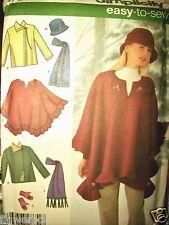 Simplicity 4783 Pattern Jacket Poncho Scarf Hat Mittens Sz 6-8-10-12-14-16 UNCUT