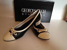 Georges Rech synonyme MANGA Black & Cream Décolleté-UK7, EU40, US10 indossato una volta