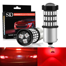 2Pcs Red 1156 BA15S P21W LED Bulbs 57SMD Car Brake Stop Signal Turn Tail Light