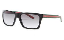 GUCCI Square Men Sunglasses GG 1013/S Shiny Black Grey Gradient Lenses 51NPT